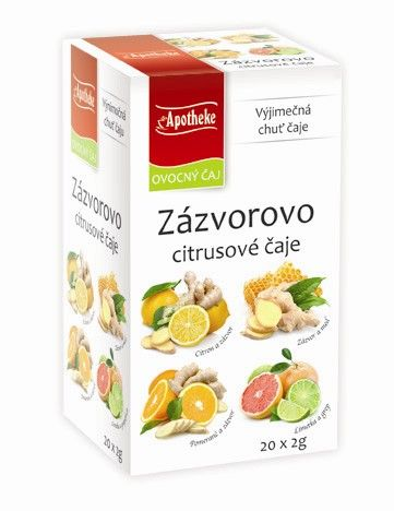 Apotheke Zázvorovo citrusové čaje 4v1 20x2g MEDIATE s.r.o.