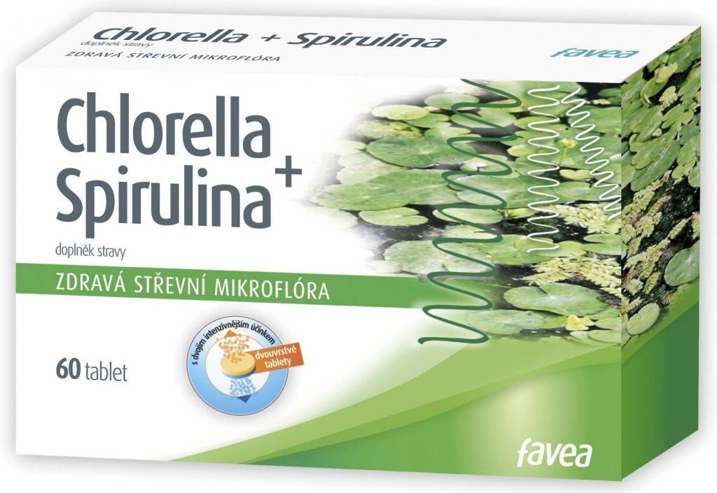 FAVEA Chlorella + Spirulina tbl.60 FAVEA Plus a.s.