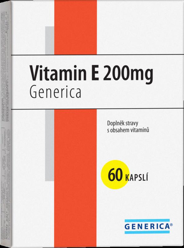 Generica Vitamin E 200mg tablet 60 Generica Bohemia spol. s r.o.