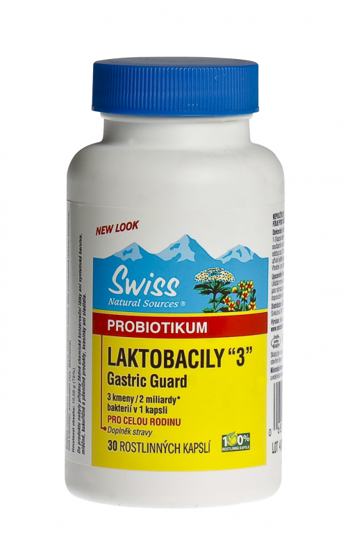 Swiss LAKTOBACILY 3 cps. 30 SWISS HERBAL REMEDIES LTD