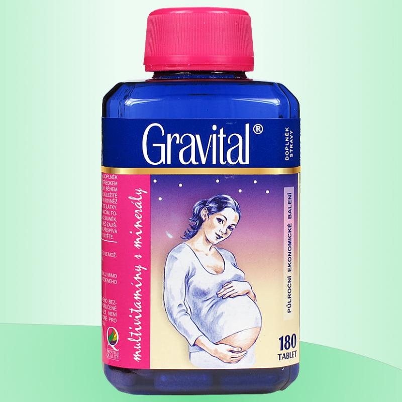 VitaHarmony Gravital pro těhotné a kojící 180 tablet VitaHarmony, spol. s r.o.