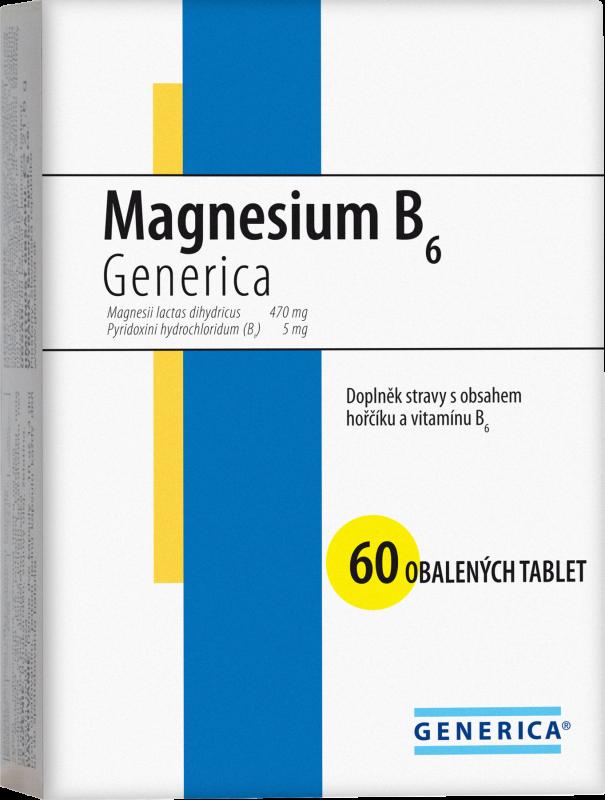 Generica Magnesium B6 tablet 60 Generica Bohemia spol. s r.o.