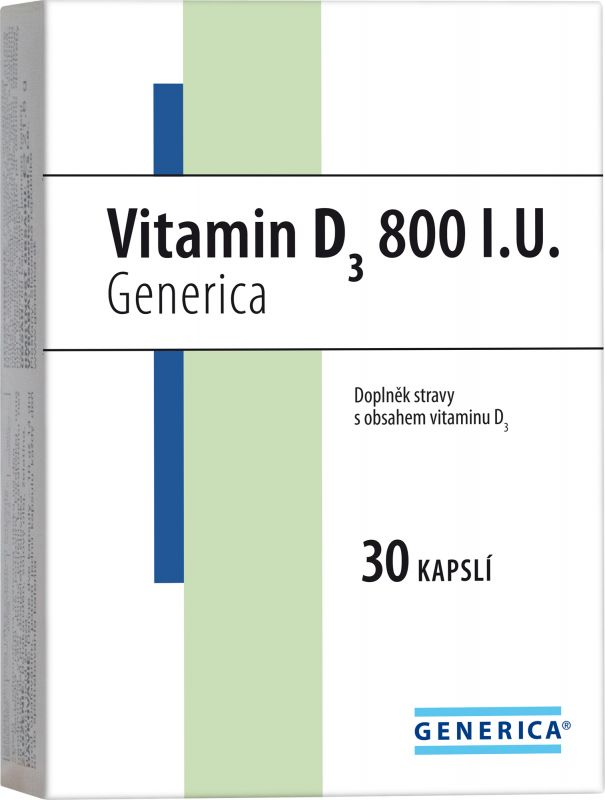 Generica Vitamin D3 400 I.U. 30 kapslí Generica Bohemia spol. s r.o.