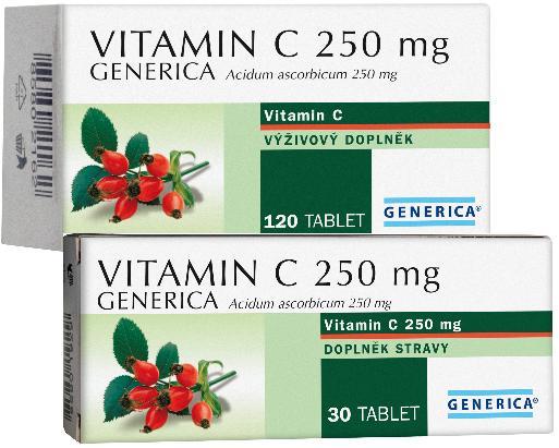 Vitamin C 250mg Generica tbl.120 Generica Bohemia spol. s r.o.