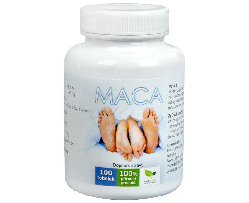 Natural Medicaments Maca 100 tobolek NATURAL MEDICAMENTS s.r.o.